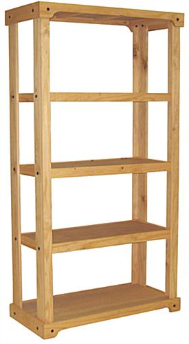 Wood Display Unit with Open Back