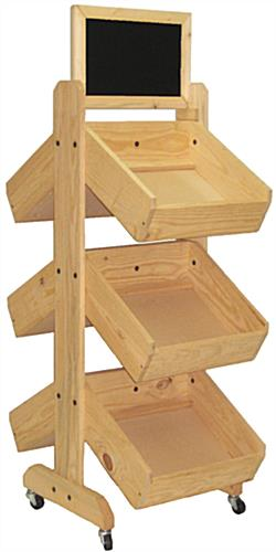Double Sided Wood Display Rack