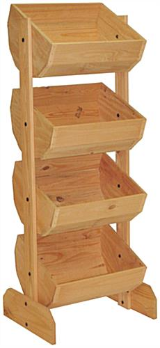 Wooden Crate Display with 4 Tiers