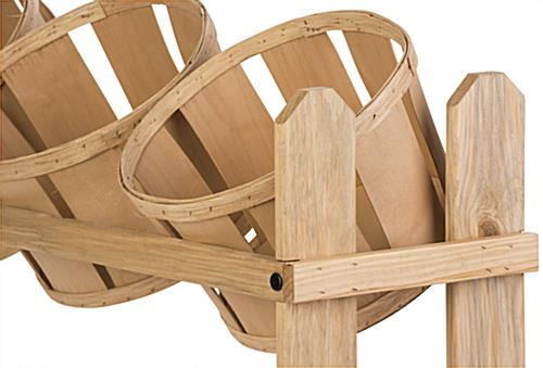 Bushel Basket Stand for Retail