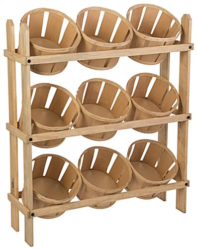 Bushel Basket Stand with 9 Bins