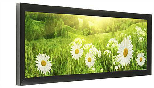 Panorama Photo Frame | Black Holder for 24x8 Pictures