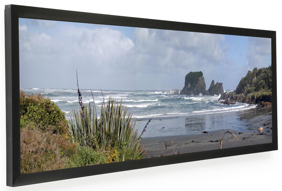 frames for panoramic prints black finish for 36 x 12 sizes