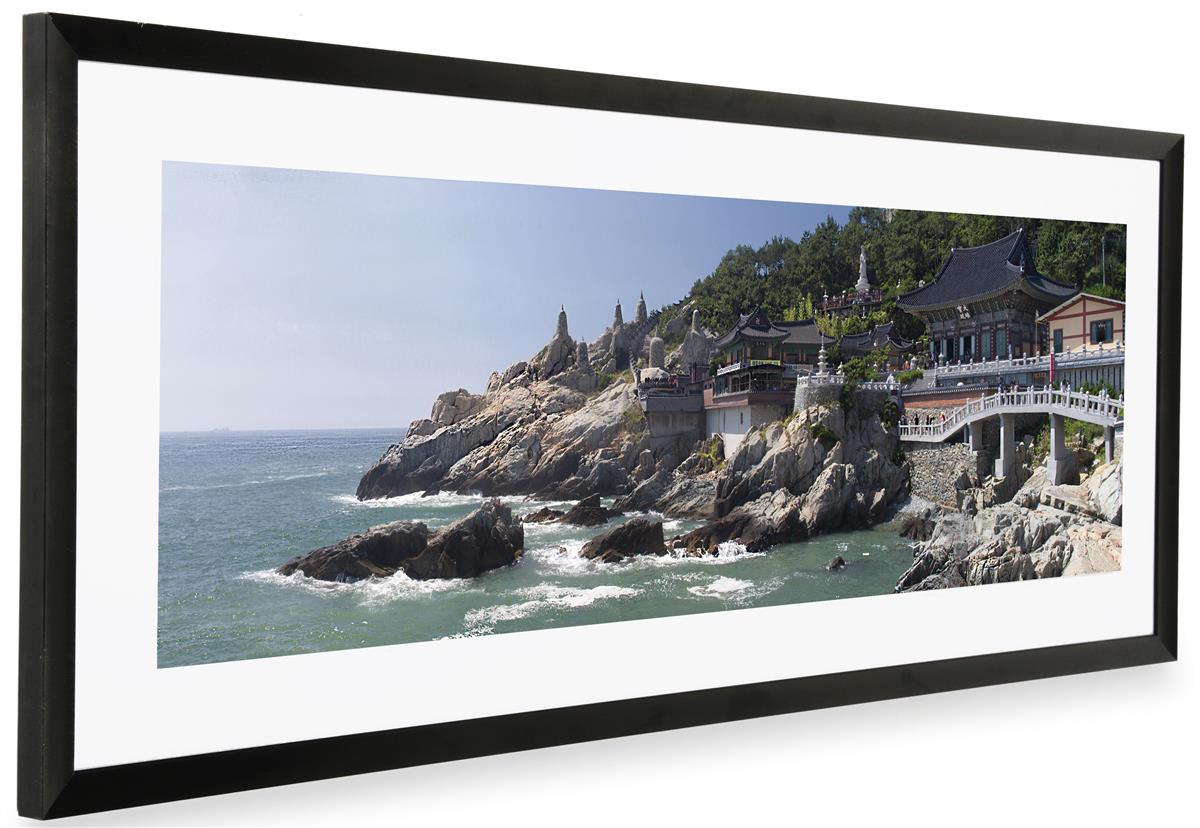 Black Panoramic Picture Frame | Matted