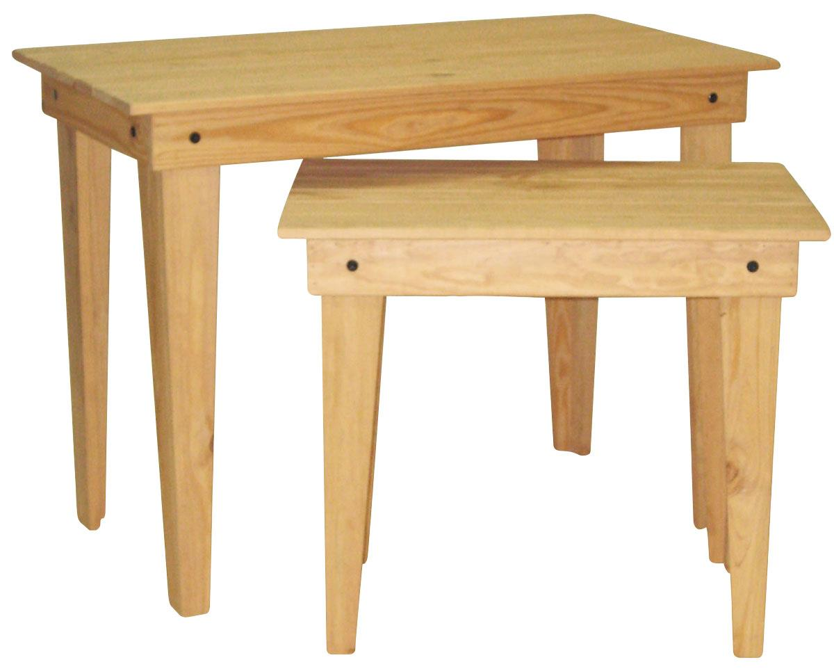 Oak Nesting Tables Stained Tops & Legs. Full resolution  photo, nominally Width 1200 Height 962 pixels, photo with #A0712B.