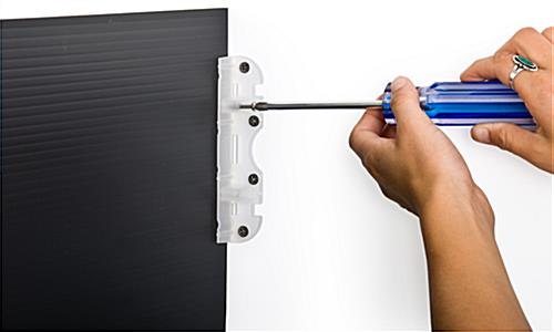 Corrugated Plastic Mounting Bracket with Screws