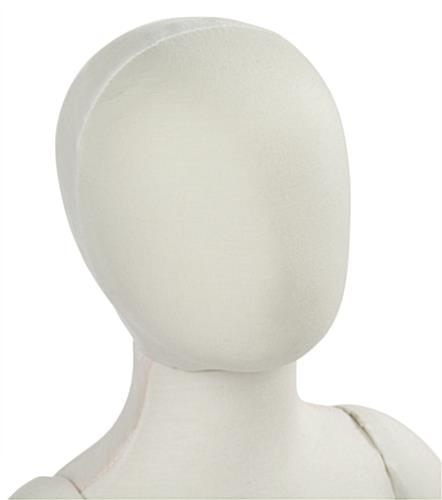 Toddler Mannequin Form with Egg-Shaped Head