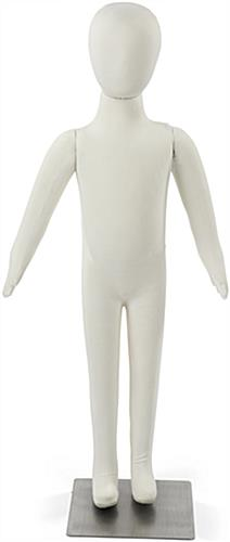 White Bendable Child Mannequin with Pinnable Body