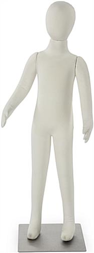 Adjustable Child Mannequin with White Fabric