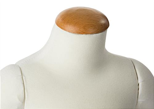 Flexible Child Mannequin with Wooden Neck Cap