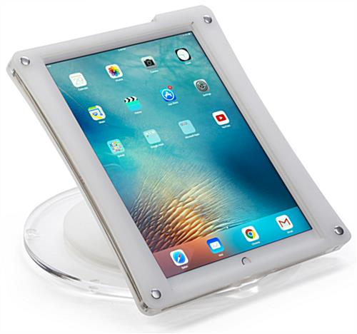 White iPad Pro Desk Mount