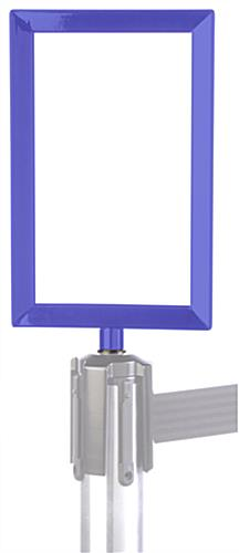blue post top frame