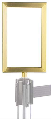 brass post top frame
