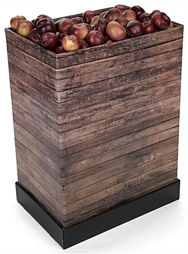 Tall Rustic Printed Corrugated Retail Bin