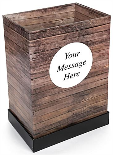 Custom Cardboard Dump Bin Rustic with Personalized Graphic
