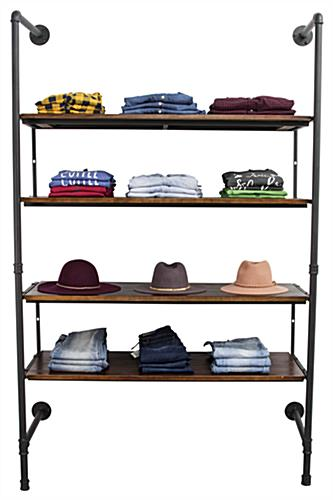 Industrial Retail Wall Shelves Facing Front