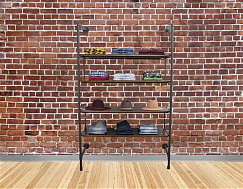 Multi-Tiered Industrial Retail Wall Shelves