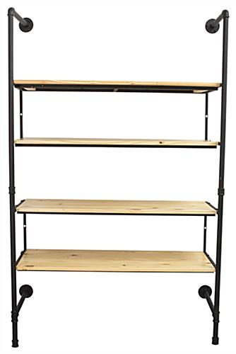 Front Facing Industrial Pipe Shelving Wall Unit