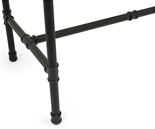 Set of Pipe Retail Nesting Tables with Black Legs