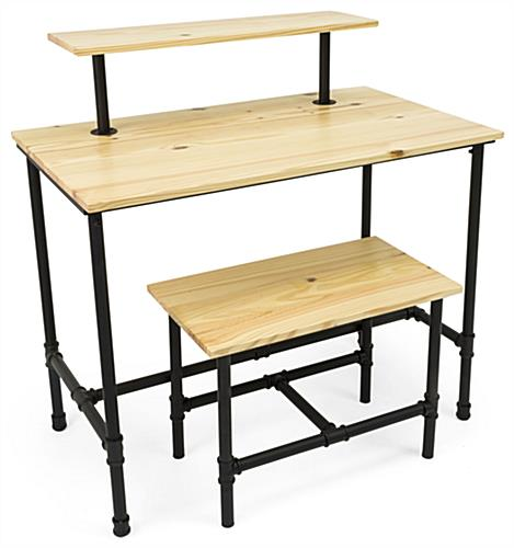 Set of Pipe Retail Nesting Tables with Pipeline Legs