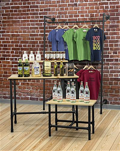 Small Pipe Retail Table Displayed in an Industrial Style Store