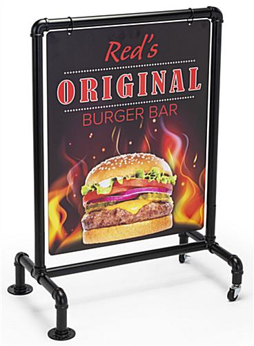 22 x 28 outdoor pipeline display sign with industrial piping
