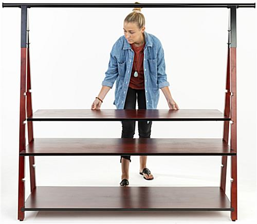 Easy to assemble wooden a frame clothes rail