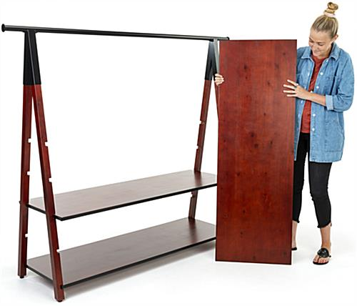 Modular wooden a frame clothes rail