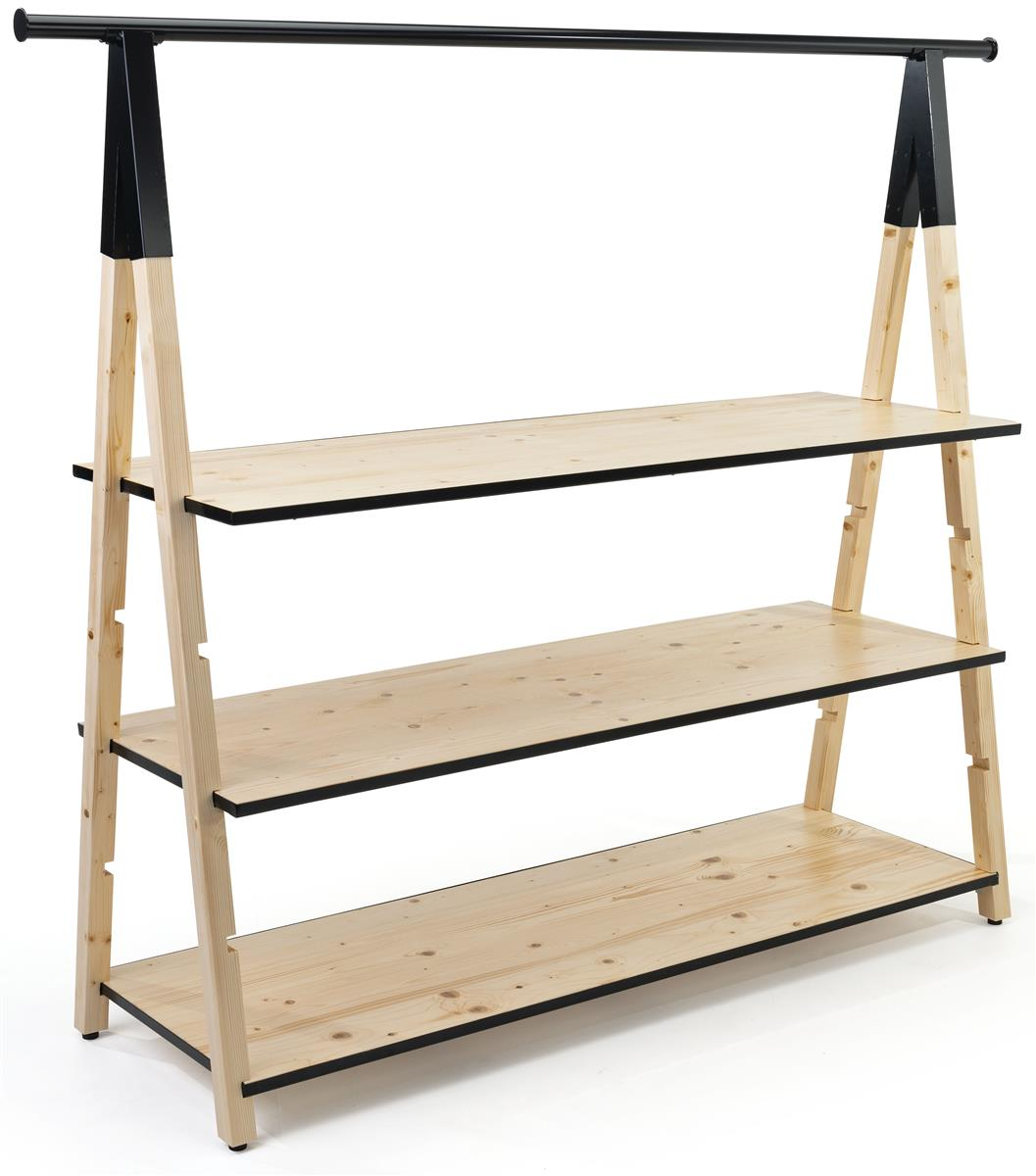 Wooden A Frame Clothing Rack With Base