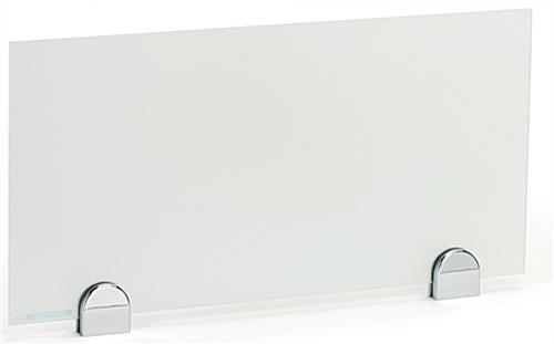 Desk privacy shield for markerboard partition