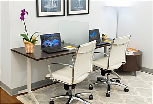 Desktop Privacy Partition Screen for Separating Workstations