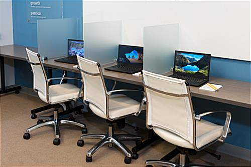 Desk Mounted Privacy Panel for Education Centers