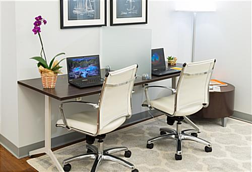 Desk mounted privacy partition panel to divide workstations