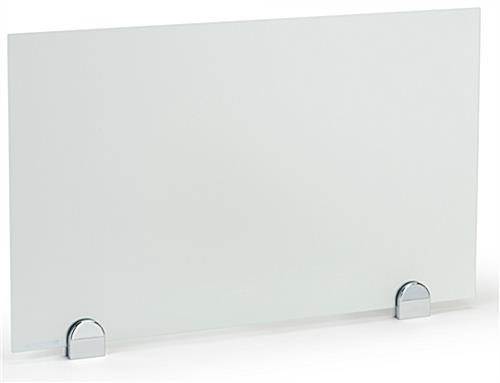 Desk mounted privacy partition panel with 2 clamps