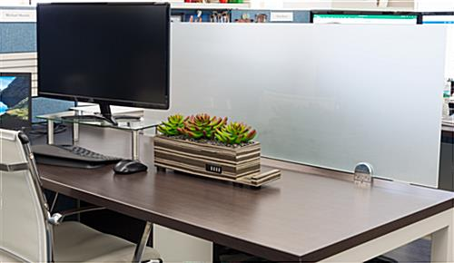 Glass privacy markerboard partition for cubicles