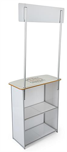 Promotion counter table with convenient storage