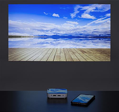 Mini LED projector smartphone screen share feature
