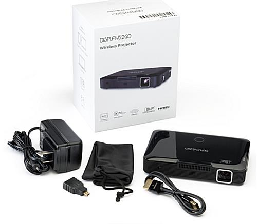 Pocket projector with HDMI cable and micro HDMI adapter