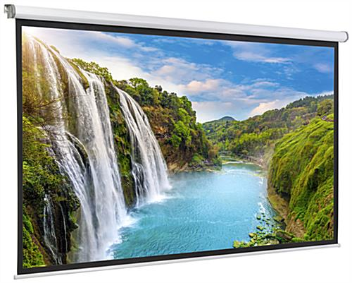 "108"" Motorized Electric Projector Screen for Presentations"