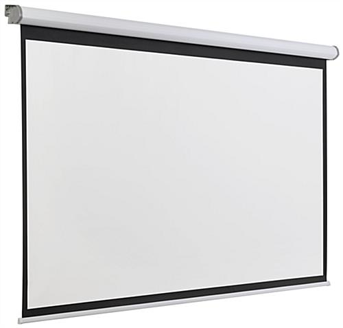 "Wall or Ceiling Mounted 90"" Electric Projection Screen"