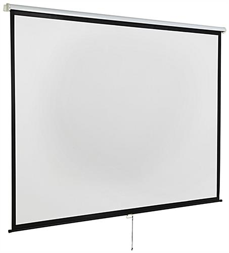 "120"" Wall/Ceiling Retractable Presentation Screen with Auto-Lock Height"