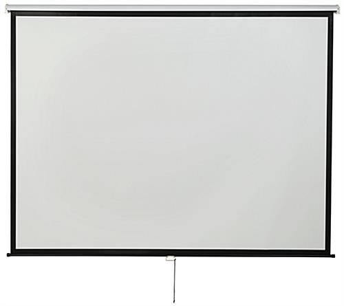 "120"" Wall/Ceiling Retractable Presentation Screen with Wide View Area"