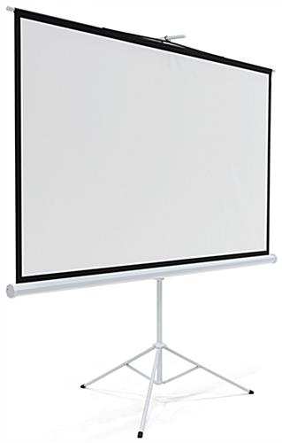 "108"" Tripod Retractable Projector Screen Wide Angle"