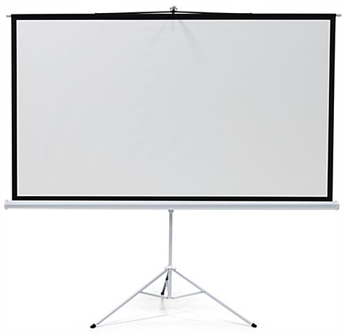 "108"" Tripod Retractable Projector Screen Matte White"