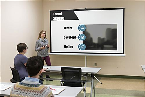 "108"" Tripod Retractable Projector Screen for Presentations"