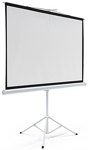 "90"" Portable Tripod Projector Screen with PVC Build"