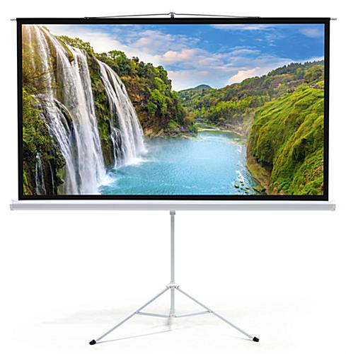 "90"" Portable Tripod Projector Screen with 16:9 Aspect Ratio"