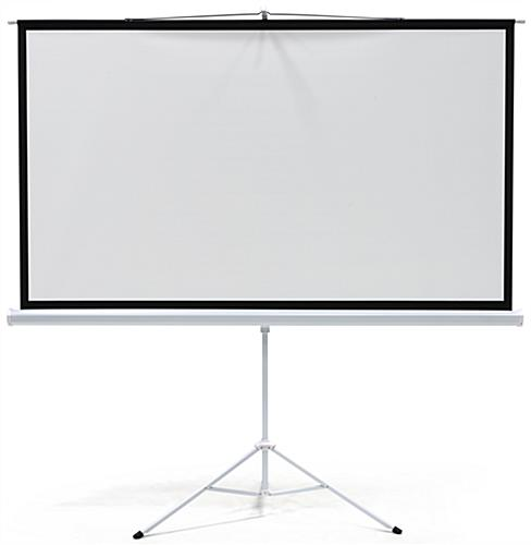 "90"" Portable Tripod Projector Screen Matte White"