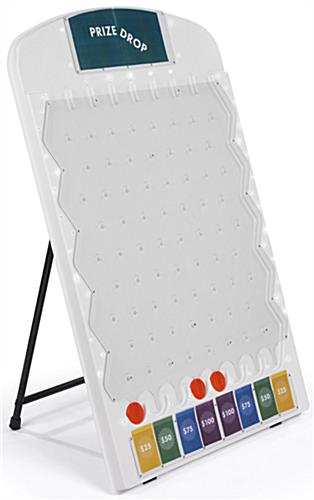 White Lighted Prize Drop Board