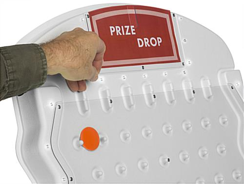 Tabletop Disk Drop Game, Customizable Header